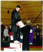 Instructor V. Koryavin- the champion of Moscow in traditional Wushu, 1999.