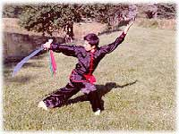 Wide sword technique. Demonstrates Master Ji Jian Cheng (China).