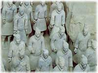 Terracotta warriors in Sian.